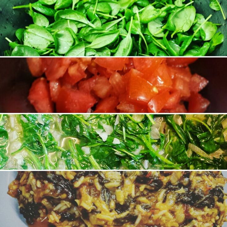 #baby_spinach #rice #greek #tomato