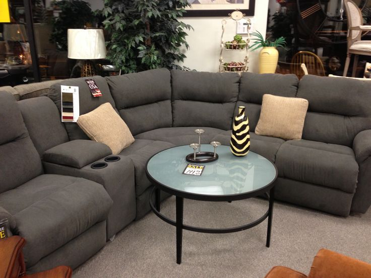 Grey reclining sectional from Michael's
