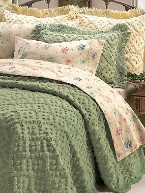 Savannah Chenille Bedspread & Shams   LinenSource