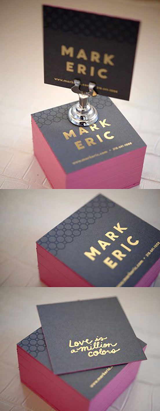 Gold Foil Edge Business Card