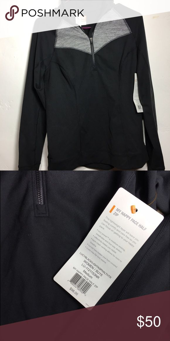 NWT Lucy Athletic Half-Zip Jacket Medium NWT Lucy Athletic wear, half zipped jacket. Size medium. Polyester and Spandex material, moisture-wicking. Lucy Jackets & Coats