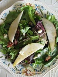 Danish Blue Cheese and Pear Salad with Maple Vinaigrette