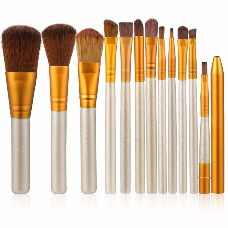 12 Pcs/set Professional Makeup Brushes Set Cosmetic Eyeshadow Foundation Concealer Brushes Face Brush Make up Tools Accessories