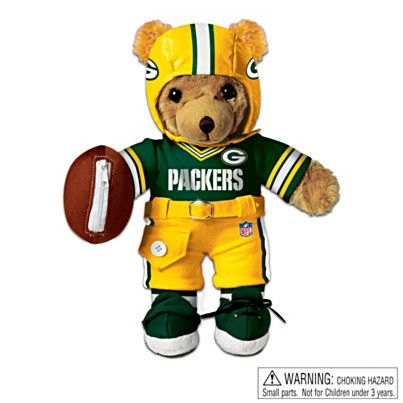 Interactive Green Bay Packers Coaching Teddy Bear $29.99 #Packers