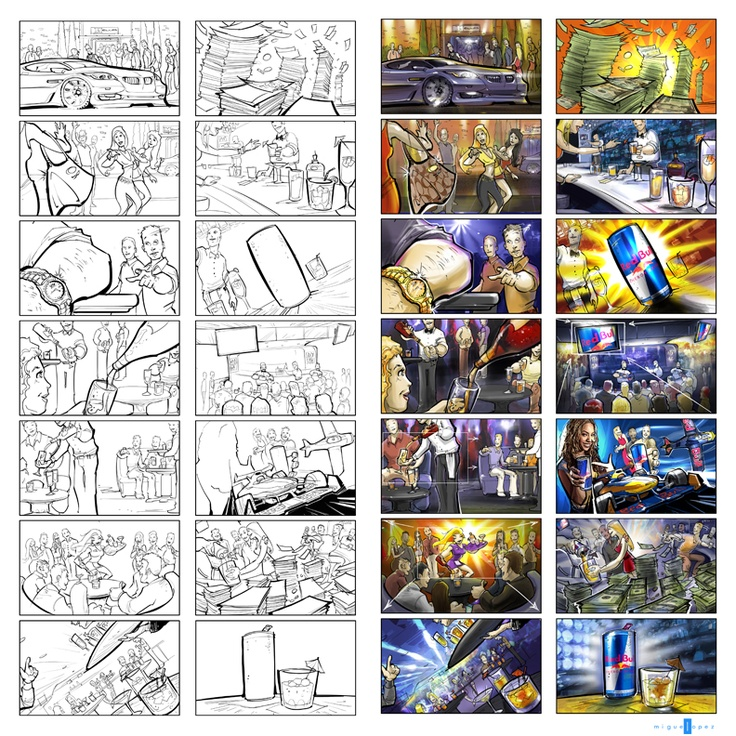 40 best Design phase - Storyboard images on Pinterest Sketches - commercial storyboards