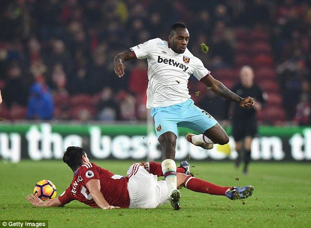 Carroll is quick to sing the praises of Michail Antonio, who he says has been the 'main pl...