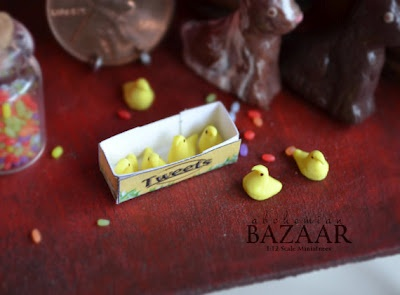 Mini Peeps: Clay Miniatures, 1 12 Scale, Minis Food, Marshmallows Chick, Easter Eggtravaganza, Food Blog, Minis Easter, Dollhouse Minis, Minis Peep