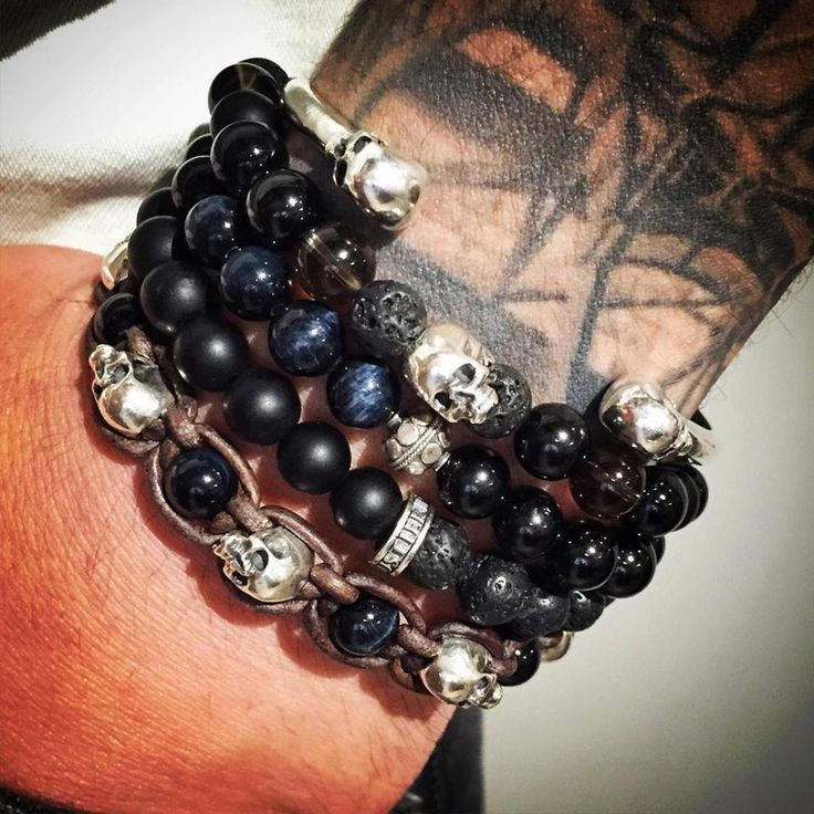 With a Pride of Tortuga, a Little Inagua Wrap, a Kiss Candy Inagua and a Bangle Hamlet !  #flibustierparis #handmade #lookoftheday #jewel #jewelry #skull #silverskull #silver #pirate #paris