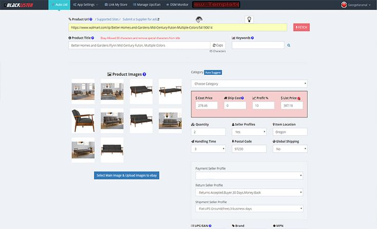 Dropshipping eBay Lister