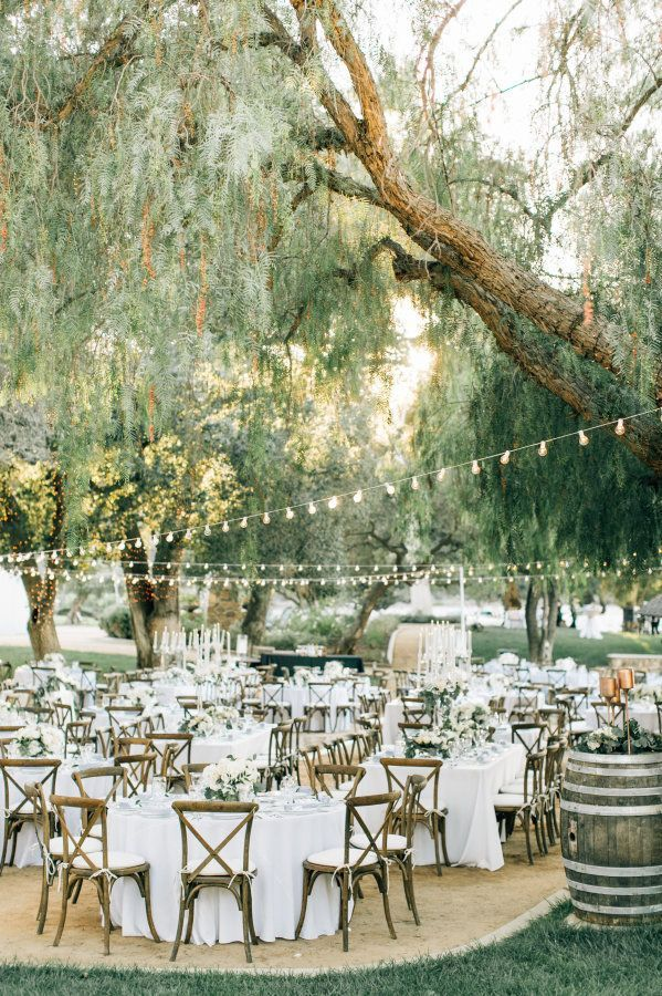 Al fresco vineyard reception decor httpwwwstylemeprettycom 707