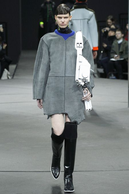 love the boxy neat and structured shapes with a contrasting torn hemline