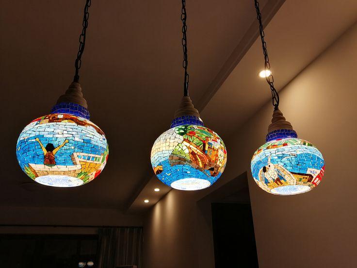 今天客人發來買家秀 吊燈安裝在餐廳 效果特別好 他們很喜歡 被別人