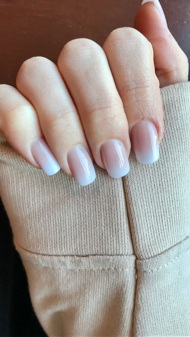 Pink to White ombre fade solar nails!