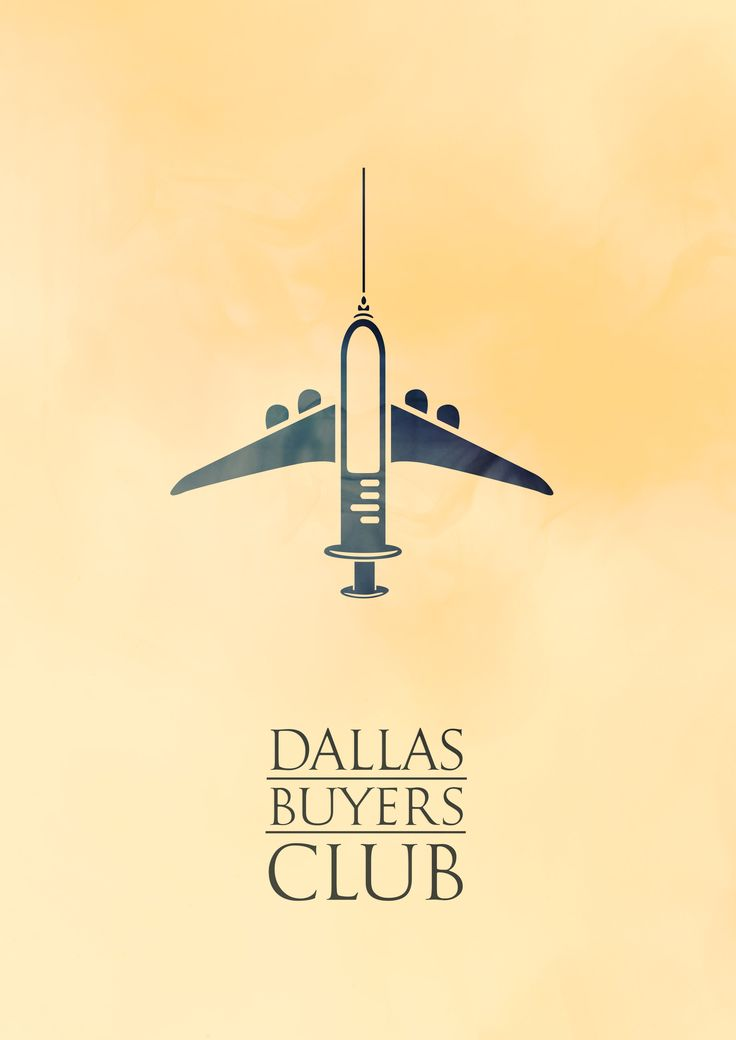 Afiche alternativo. Dallas Buyers Club