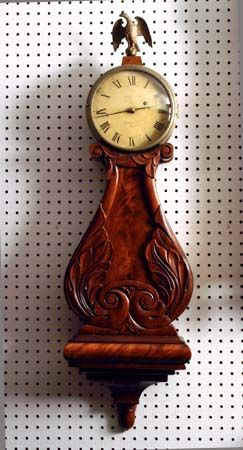 Our banjo clock is a patient at Antique Clock Repairs at The Clockery - Norwalk CT