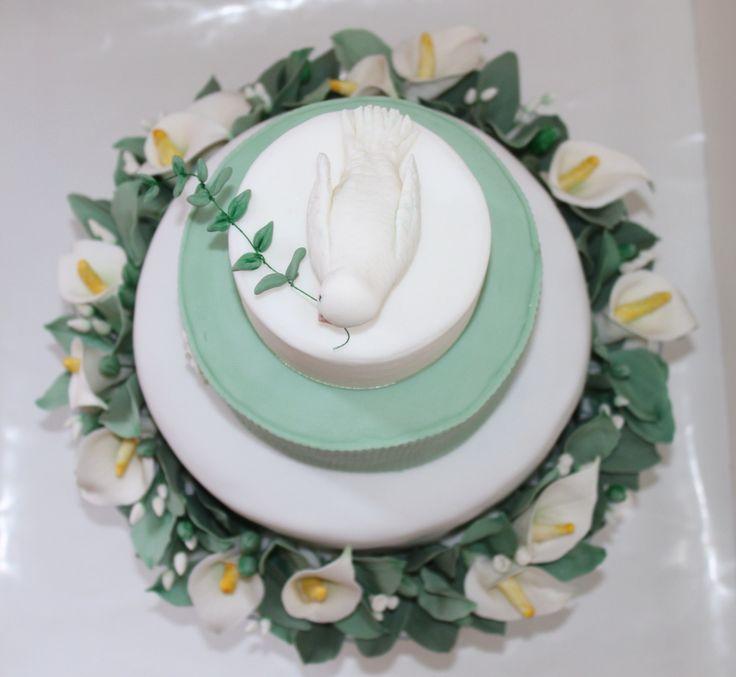 Torta  Prima Comunione - colomba della pace - le dolci creazioni di Camilla Jesholt Buffatti