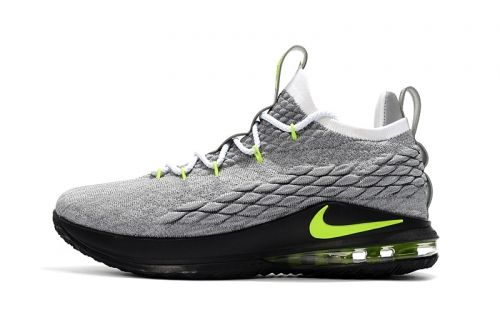 672d9ddcb35 Factory Authentic Nike LeBron 15 Low Neon Mens Basketball Shoes For Sale -  ishoesdesign