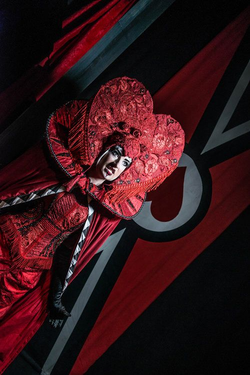The Queen of Hearts. from Alice's Adventures Underground, By Les Enfants Terribles, and Designed by Samuel Wyer. An immersive theatre production in London of Alice Through the Looking Glass and Alice in Wonderland Photograph by Rah Petherbridge
