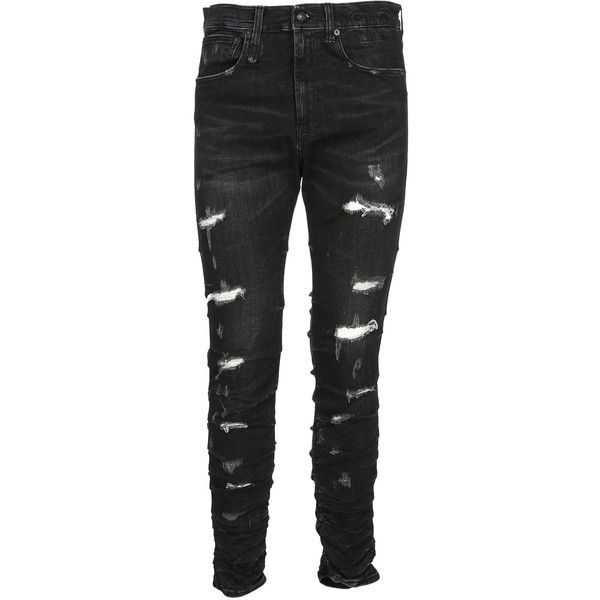 ripped black mens super skinny jeans
