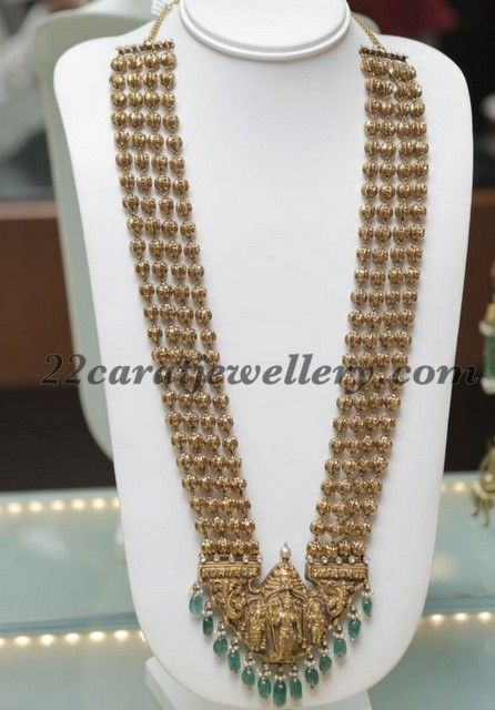 Jewellery Designs: Karni Jewellers Gold Haram