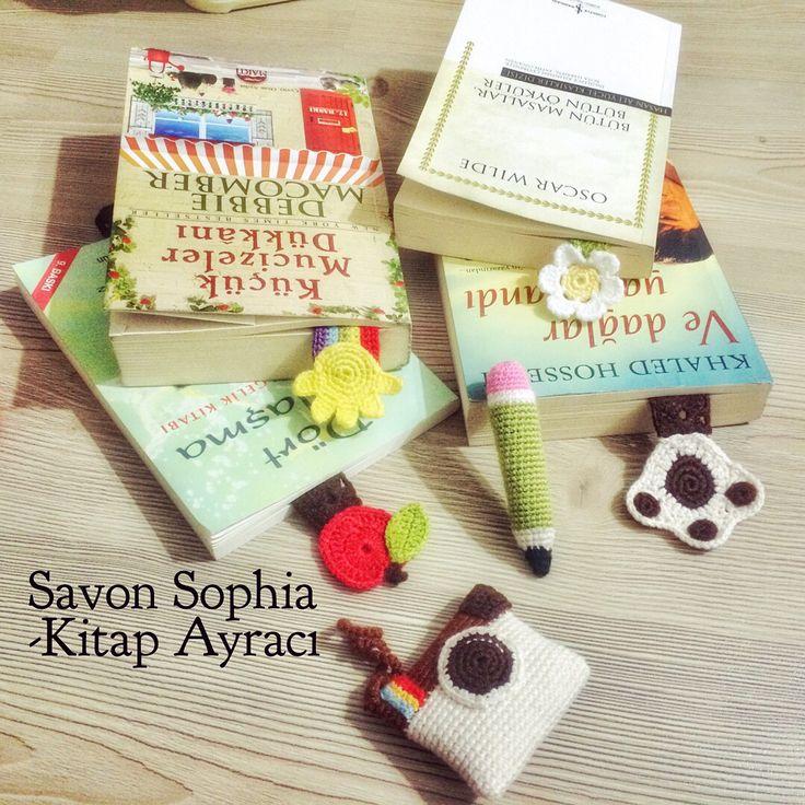 Kitap ayraçları,örgü oyuncaklar,anahtarlıklar
