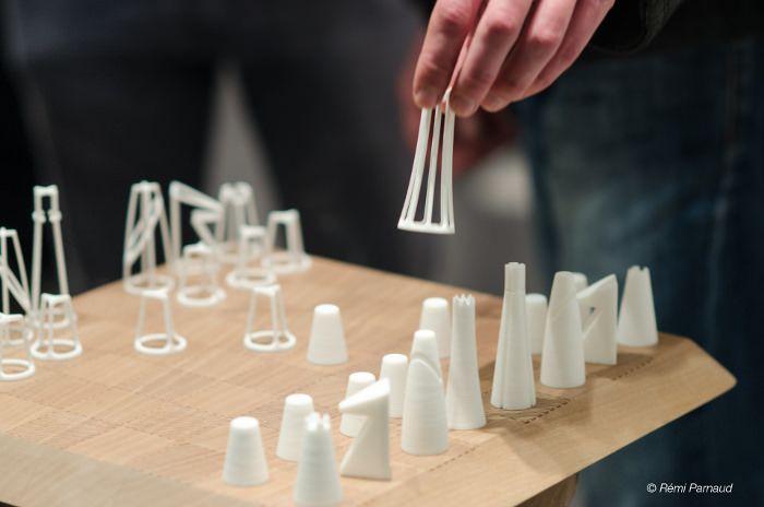 ZWEIG le jeu d'échec monochrome imprimé en 3D par BYAM