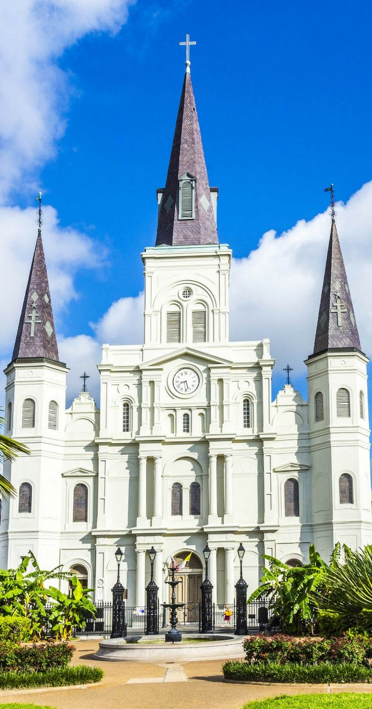 St. Louis Cathedral presides over bustling Jackson Square.  Read the top 10 things to see in New Orleans!