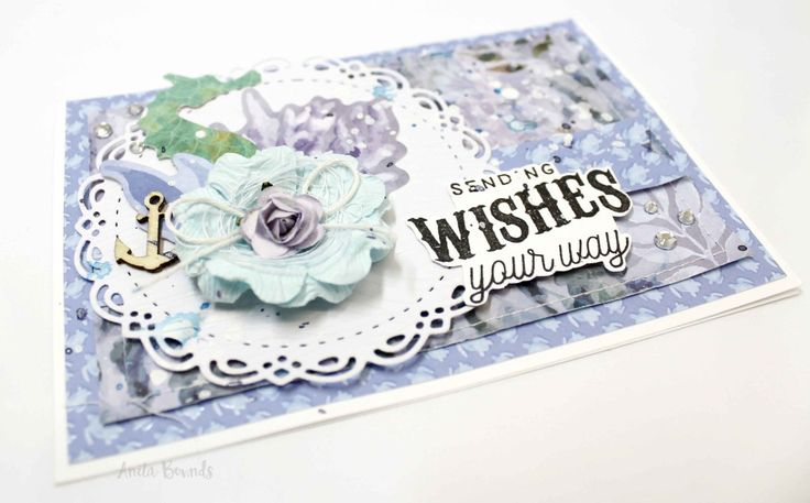 Sending Wishes your Way Card By Anita Bownds. Kaisercraft Mermaid Tails