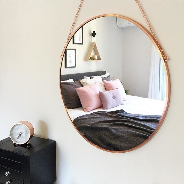 Our $19 copper coloured mirror is a perfect addition to any space as shown in…