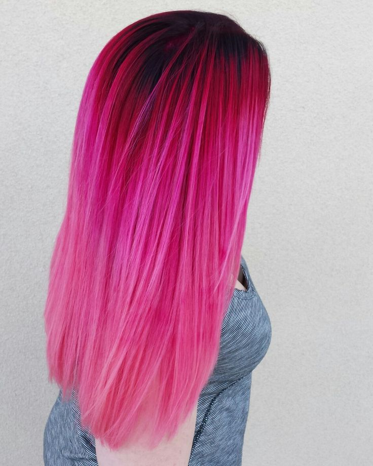 Pink balyage hair