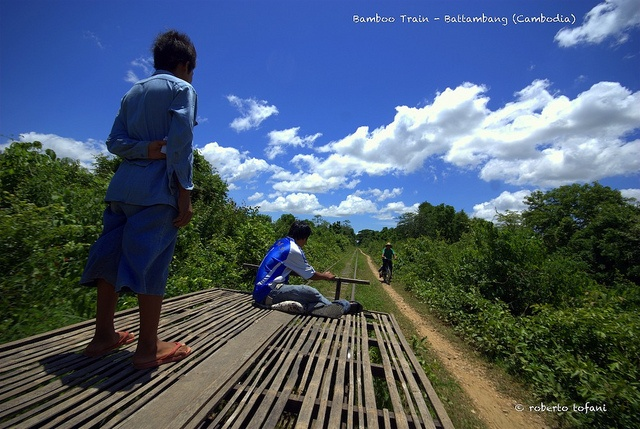 Bamboo Train: Cambodia by Robtof, via Flickr