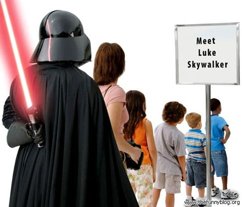 Star-wars-FUNNY-star-wars-comedy-: Darth Vader, Disney Stars, Disney World, Star Wars, Meeting Luke, Luke Skywalker, Funny Memes, Funny Stars Wars, Starwars