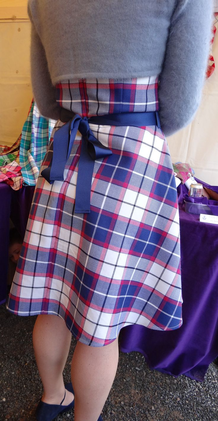 Theresa Kelly from Stirling in Scotland, a highland dancing judge at the Cowal Highland Gathering 2014, modelling her beautiful #Bonnie #Marine #Tartan dress.