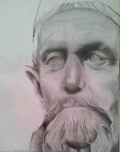 #Elder #art #pencil