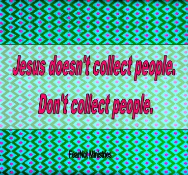 We learn interesting things about people on Social Media. I quite enjoy getting to connect with people from around the globe, not simply as a number, but to be a part of someone's life. In all honesty, the numbers don't make the person—followers do not make a person. Jesus had many followers. Jesus has many followers. But Jesus didn't collect people. http://4110fearnot.wordpress.com