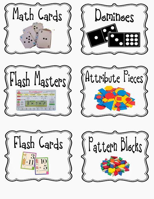 Math manipulative Labels...FREEBIE