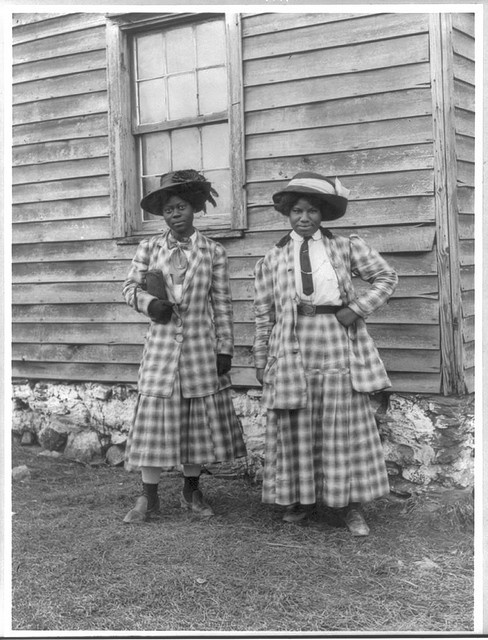 Two wonderful Sisters who could match plaids like a boss when they did their tailoring! by Black History Album, via Flickr