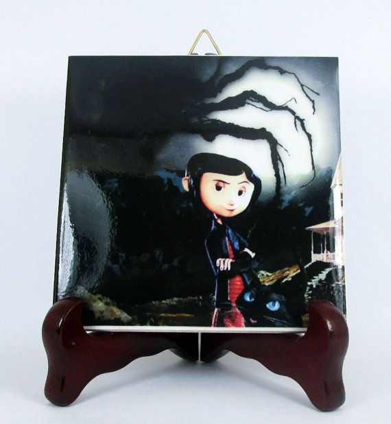 Coraline Jones Ceramic Tile Neil Gaiman Henry by TerryTiles2014