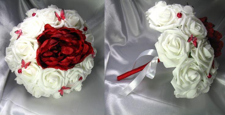 Bouquet de mariée fleurs artificielles La mariée lavande avec fleurs en mousse
