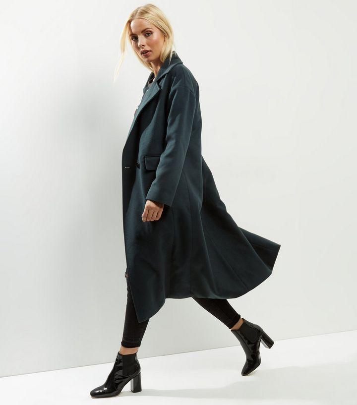 Anita et Vert - Maxi manteau vert foncé | New Look