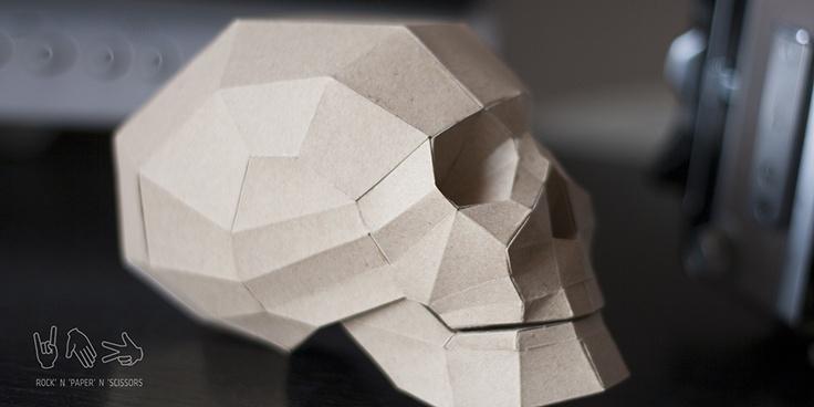 #paper #skull #model #diy
