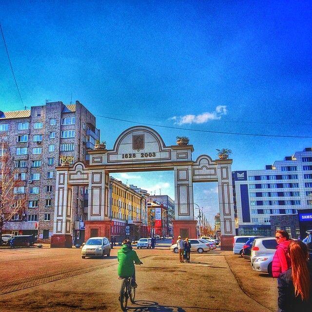 City Center in Krasnoyarsk, Siberia, Russia