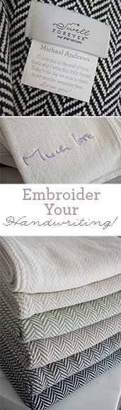 Brand New to Swell Forever. Our Forever Blanket throws and baby blankets now come with the option to not only personalize your fabric message tag but also use your own handwriting or someone else's for your embroidery! Your gift supports adoptive families and children in foster care. Ideal for baby gifts, daddy daughter gifts, holiday gifting, wedding gifts, bridesmaids, wedding party, thank you, birthday and other occasions where a unique present is required. The perfect heirloom. USA.