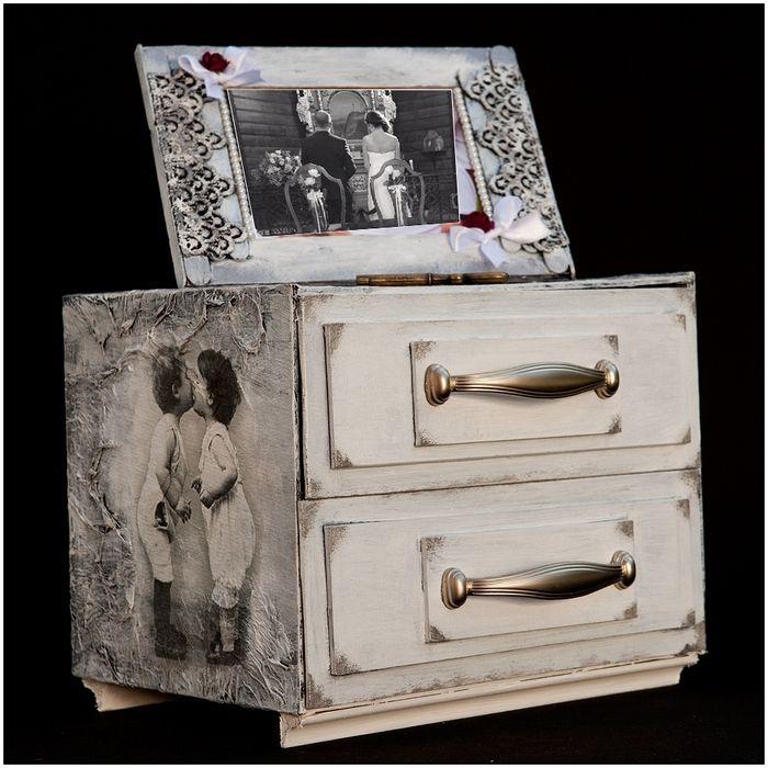 Piept de sertare și cadru pentru fotografii de carton. Master Class (4) (700x700, 309Kb)