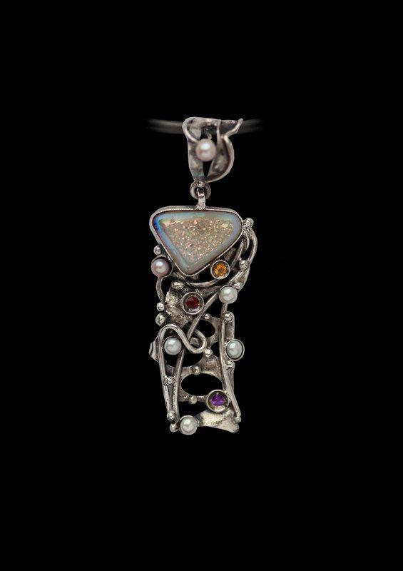 Druzy Pendant. Drusy Pendant.Unique Handmade One-of-a kind Design Druzy Pendant by AlenaZenaJewelry on Etsy