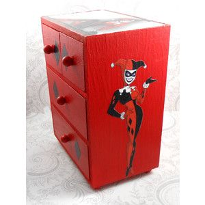 Harley Quinn Red And Black Jewelry Box