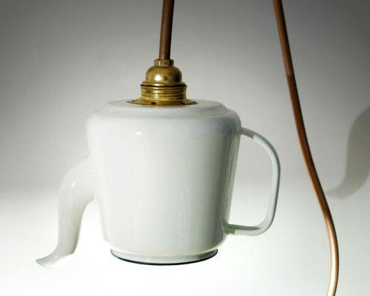 Teapots into Poetic Lamps With a Twist. This may be purchased on ecofirstart.com