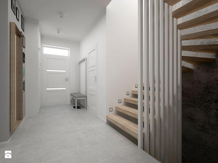 Dom - 65 m2 - Średnie schody, styl skandynawski - zdjęcie od BIG IDEA studio projektowe