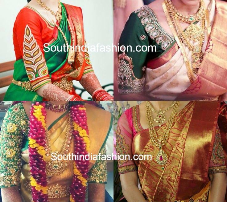 Embroidered elbow length sleeves ,bridal blouse !