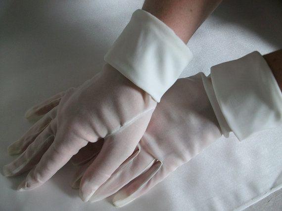 Bridal gloves Mat organza gloves Wedding gloves by DesignByIrenne
